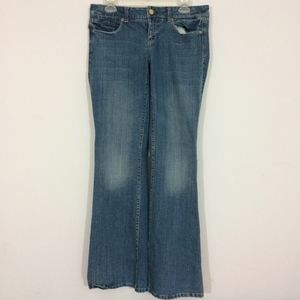 American Eagle Womens 6 REG Real Flare Blue Jeans